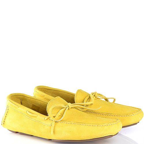 Мужские мокасины Swamp из мягкого желтого нубука, фото