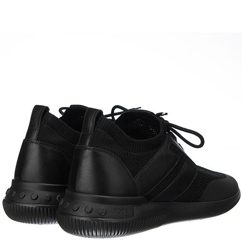 Черные кроссовки Tod's из кожи и текстиля, фото