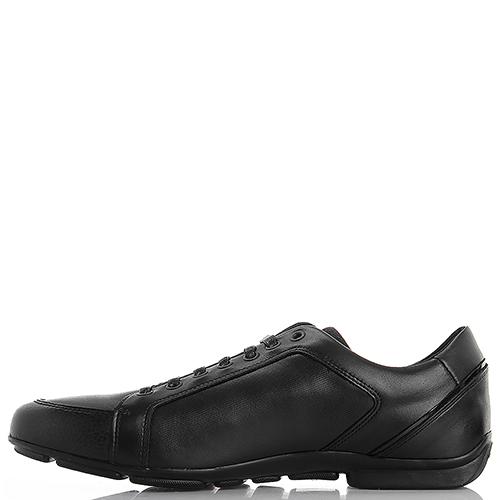 Спортивные туфли Emporio Armani из кожи черного цвета, фото