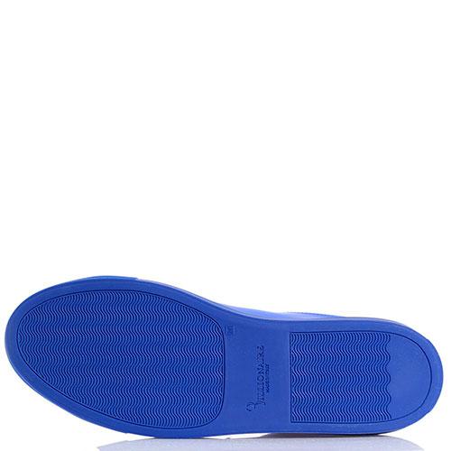Синие кеды из кожи Billionaire, фото
