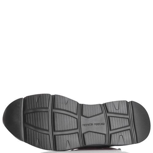 Черные кроссовки Frankie Morello с рельефной подошвой, фото