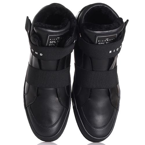 Ботинки John Richmond черного цвета на липучке, фото