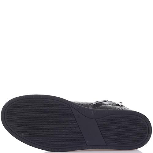 Черные ботинки Philipp Plein из зернистой кожи, фото