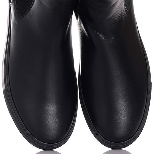 Челси Roberto Cavalli из гладкой кожи черного цвета, фото
