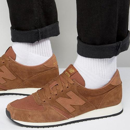 Замшевые кроссовки New Balance 420 коричневого цвета, фото
