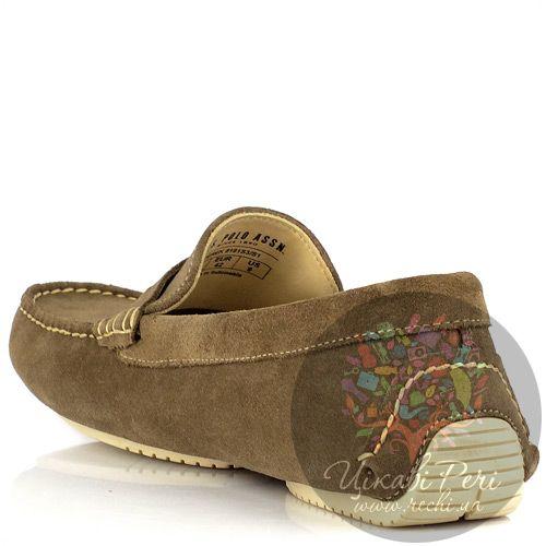 Туфли-мокасины U.S. Polo ASSN. из шикарной мягкой замши светло-коричненого цвета, фото