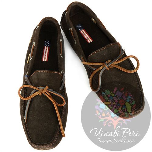 Мокасины U.S. Polo ASSN. из темно-коричненого замши со специальными шишечками на подошве, фото