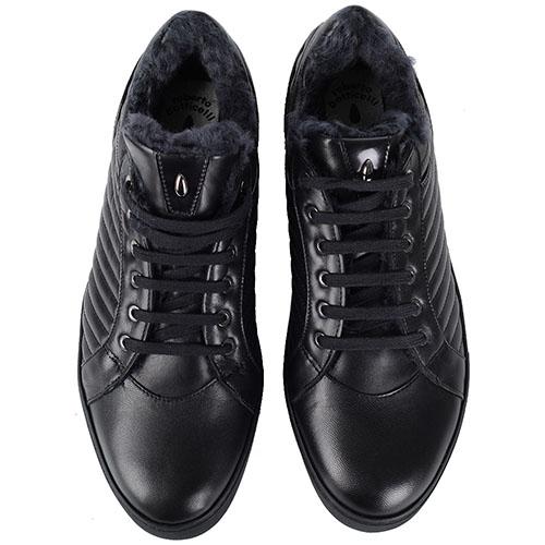 Зимние мужские кроссовки Roberto Botticelli Limited черного цвета, фото