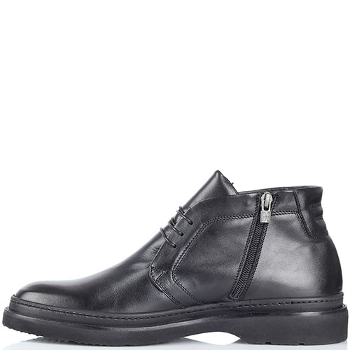 Мужские ботинки FABI из кожи черного цвета на меху, фото