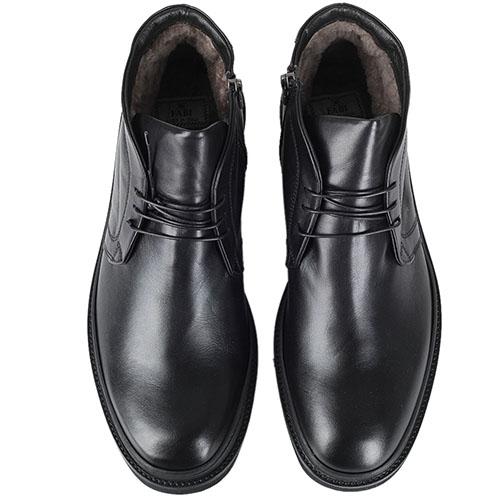 Мужские ботинки FABI из натуральной кожи черного цвета на меху, фото