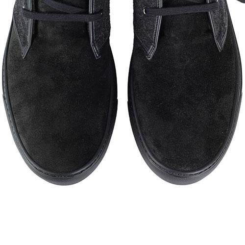 Зимние ботинки FABI из натуральной замши со вставками из текстиля, фото