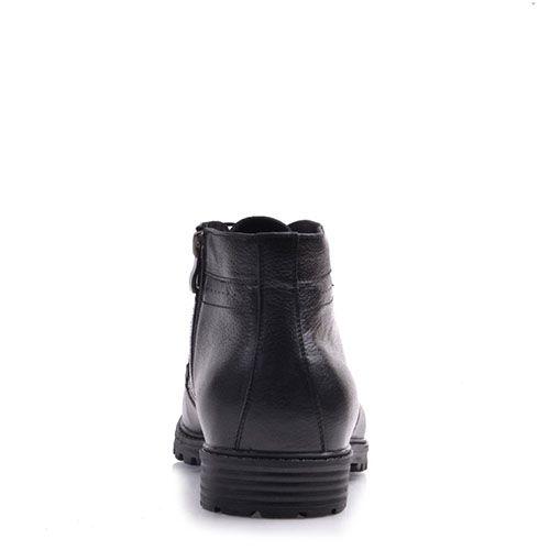 Кожаные ботинки Prego черного цвета на тракторной подошве, фото