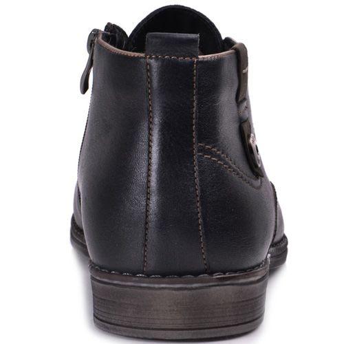 Ботинки зимние Lucky Choice с коричневой подошвой и металлической декоративной кнопкой, фото