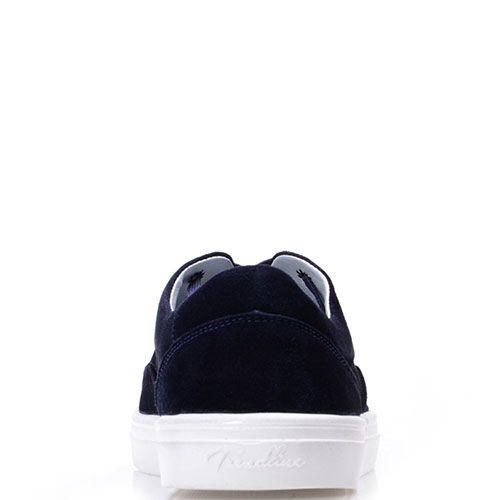 Замшевые кеды Prego синего цвета на белой подошве, фото