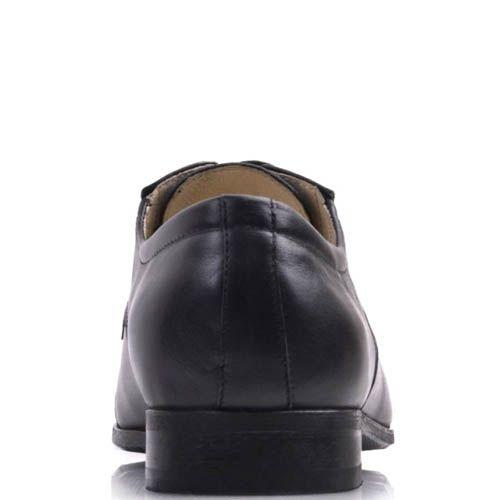 Туфли дерби Prego черного цвета из гладкой натуральной кожи на шнуровке, фото