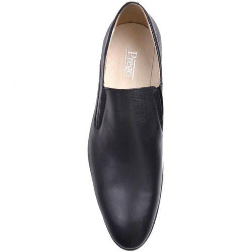 Туфли Prego черного цвета гладкие из натуральной кожи, фото