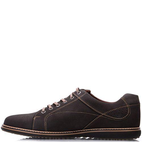 Туфли Prego из натурального нубука коричневого цвета, фото