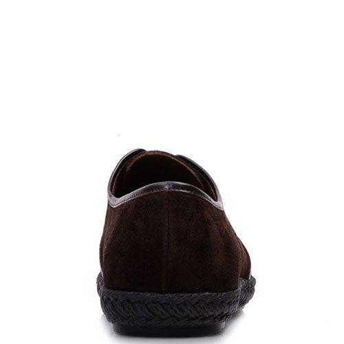 Туфли Prego из натуральной замши коричневого цвета, фото