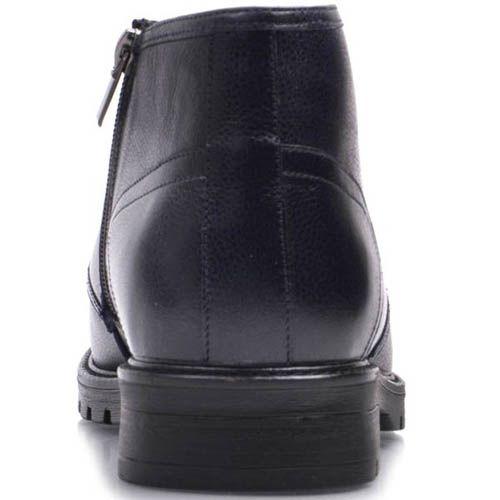 Ботинки Prego зимние синего цвета с мехом до щиколотки на шнуровке и с молнией, фото