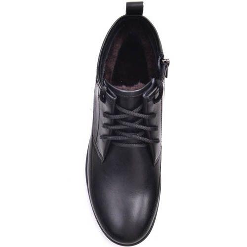 Ботинки Prego зимние высокие черного цвета с зубчастой подошвой, фото