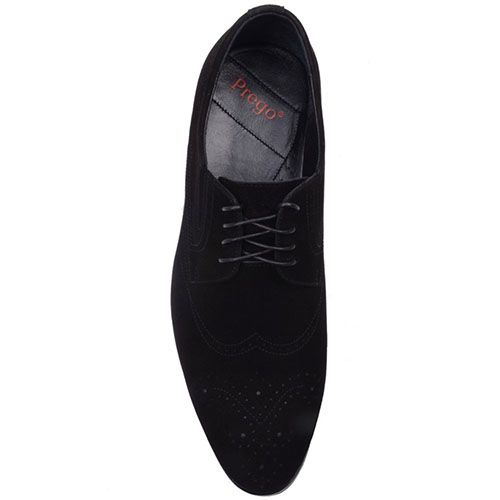 Туфли Prego из натуральной замши черного цвета, фото