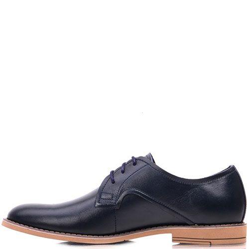 Туфли Prego из натуральной глянцевой кожи синего цвета, фото