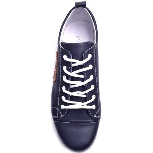 Кеды Prego мужские синего цвета кожаные, фото