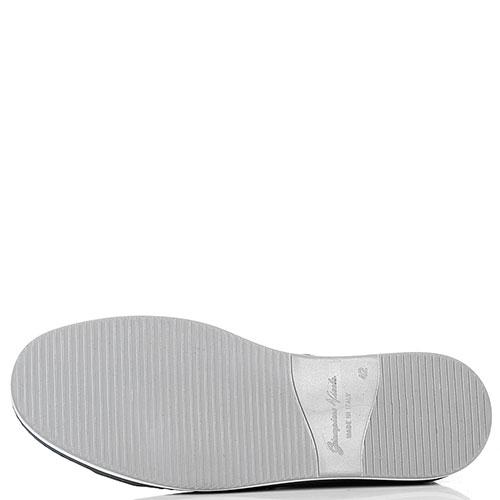 Замшевые кеды Giampiero Nicola со значком, фото