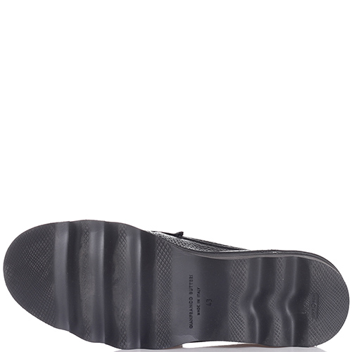 Черные туфли Gianfranco Butteri из зернистой кожи, фото