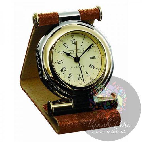 Часы дорожные Dalvey Travel в коричневой коже, фото