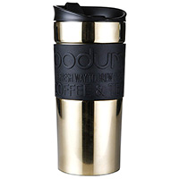 Термокружка Bodum Travel Mug gold-black 0,35л, фото