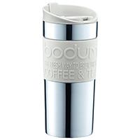 Кремовая термокружка Bodum Travel Mug 0,35л, фото