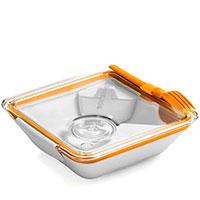 Ланч-бокс квадратный Black+Blum Box Appetit оранжевый, фото