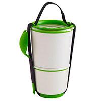 Ланч-бокс Black+Blum Lunch Pot белый с зеленым, фото