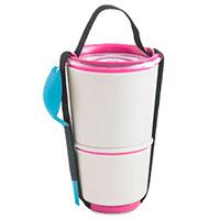 Ланч-бокс Black+Blum Lunch Pot с розовым декором, фото