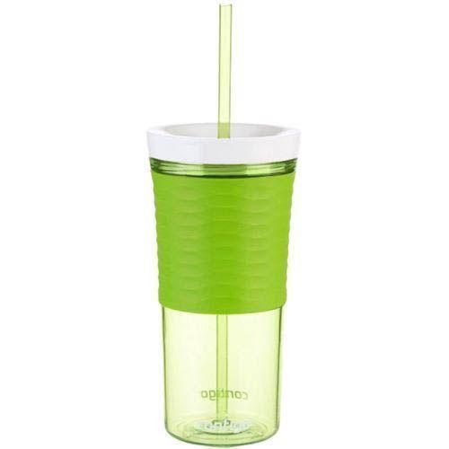 Стакан с соломкой Contigo Shake & Go зеленого цвета 540 мл, фото