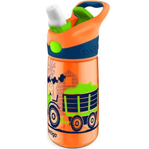 Бутылка детская Contigo Striker 420 мл оранжевая с защитой от проливания, фото