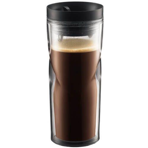 Кружка дорожная Bodum черная 0,45 л, фото