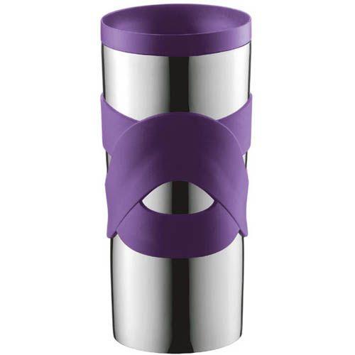 Кружка вакуумная Bodum Travel Mug фиолетовая 0,35 л, фото