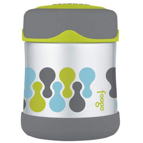 Термос Foogo серо-зеленый для пищевых продуктов, фото