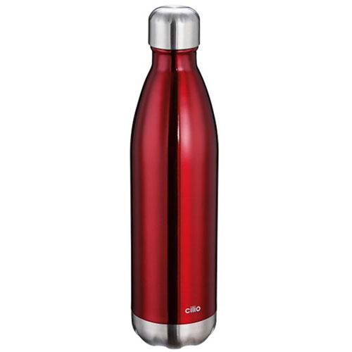 Термос 500мл Cilio Coffee and Tea в форме бутылки красного цвета, фото