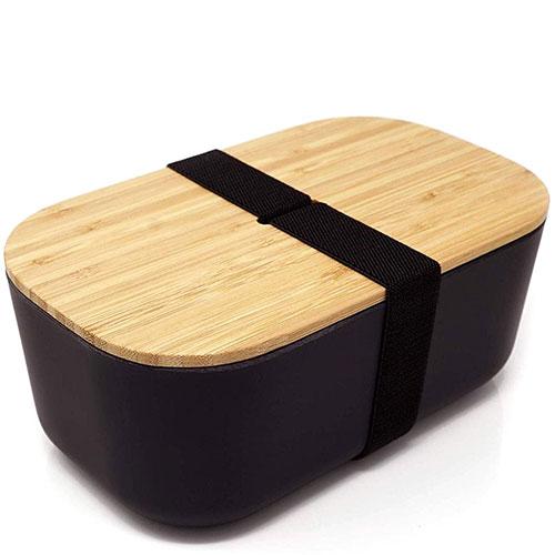Черный ланч-бокс Be Different Bamboo Box, фото