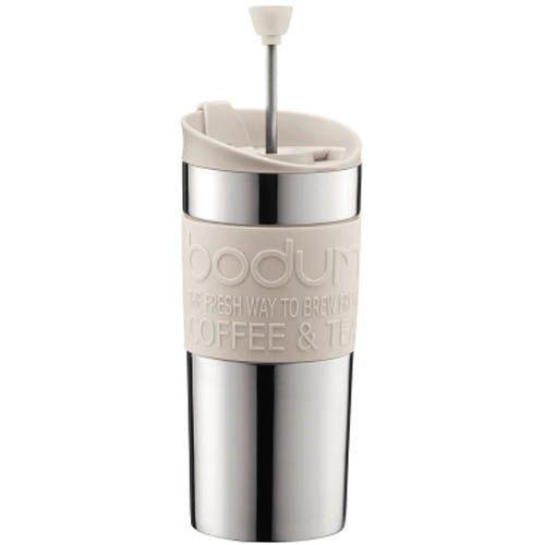 Кофейник Bodum Travel Press френч-пресс белый 0,35 л, фото