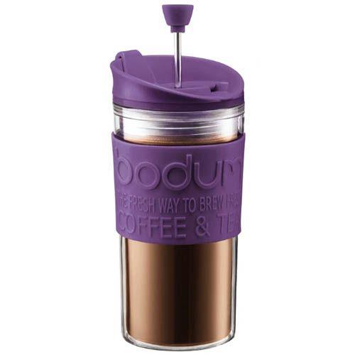 Стакан Bodum Mini Travel Press френч-пресс фиолетовый 0,35 л, фото