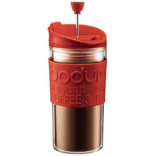 Стакан Bodum Mini Travel Press френч-пресс красный 0,35 л, фото