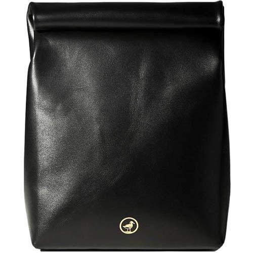 Пакет для ланчей Moreca Lunch Bag кожаный черного цвета, фото