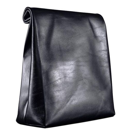 Кожаный пакет для ланчей Moreca Lunch Bag Black, фото