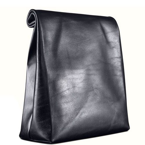 Кожаный пакет для ланча Moreca Metropolis Lunch Bag Dubai с кантами цвета cyan, фото