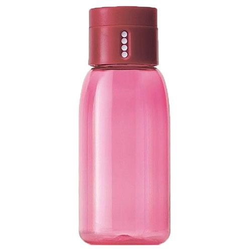 Бутылка для воды Joseph Joseph Dot Hydration розовая с индикатором, фото