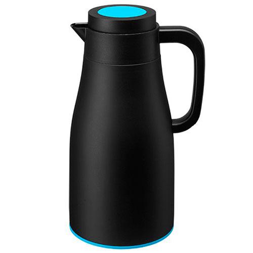 Термос PO Selected Evo-Dewar Vacuum черный с голубым, фото